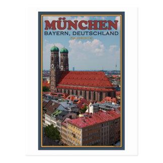 Munich Frauenkirche retrato Postal