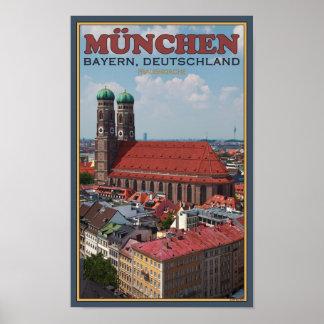 Munich Frauenkirche (retrato) Póster