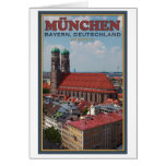 Munich Frauenkirche (retrato) Tarjeton