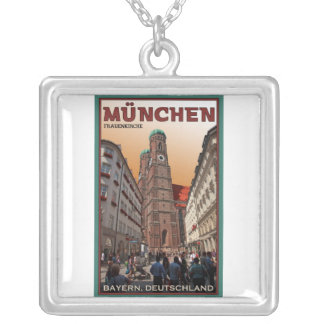 Munich - Frauenkirche Silver Plated Necklace