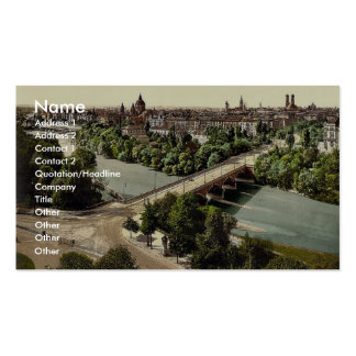 Munich from the Maximilianeum, Bavaria, Germany vi Business Card Templates