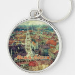 Munich, Germany City View & Church of St. Peter Keychain