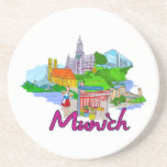 Munich - Germany.png Drink Coaster
