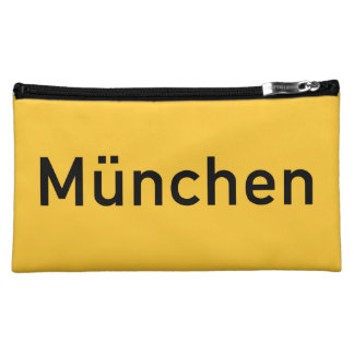 Munich, Germany Road Sign Cosmetic Bag