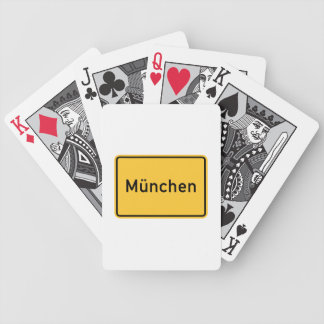 Munich, Germany Road Sign Playing Cards
