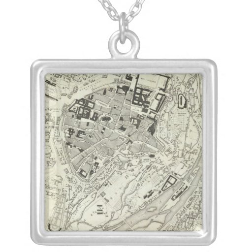 Munich, Germany Square Pendant Necklace