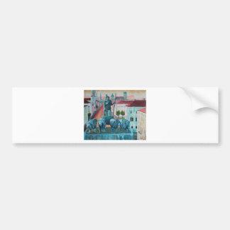 Munich Leopold Str. With Bavaria And Alps Bumper Sticker
