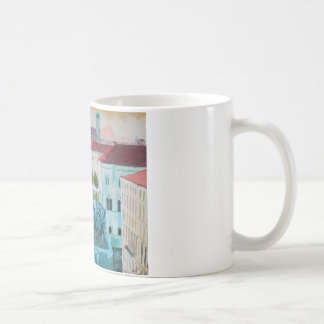 Munich Leopold Str. With Bavaria And Alps Coffee Mug