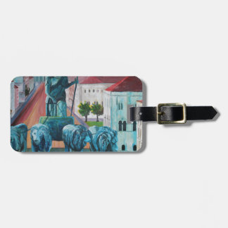 Munich Leopold Str. With Bavaria And Alps Travel Bag Tags