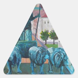 Munich Leopold Str. With Bavaria And Alps Triangle Sticker