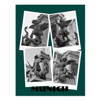 Munich - Marienplatz Postcard