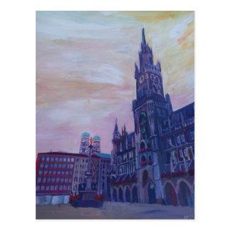 Munich Marienplatz with town hall Postcard