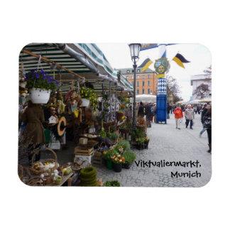Munich Market (Viktualienmarkt) Rectangular Photo Magnet