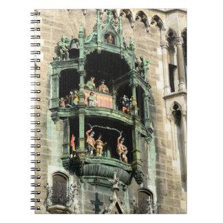 munich neues rathaus glockenspiel spiral notebooks