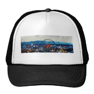 Munich Oktoberfest Panorama With Alps And Giant Wh Trucker Hat
