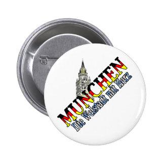 Munich Pin Redondo De 2 Pulgadas