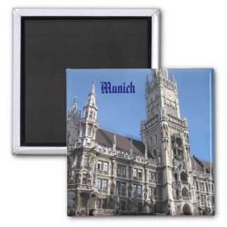 Munich Rathaus 2 Inch Square Magnet
