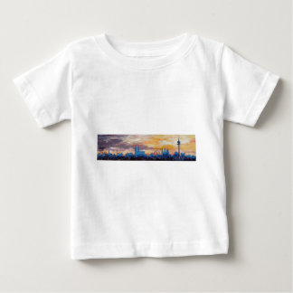 Munich Skyline At Dusk With Alps Baby T-Shirt