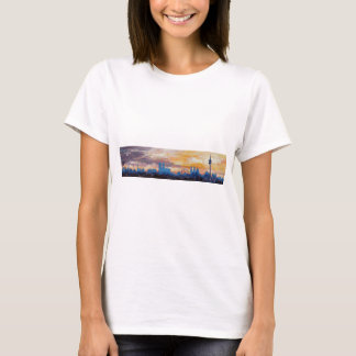 Munich Skyline At Dusk With Alps T-Shirt