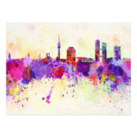 Munich skyline in watercolor background photographic print