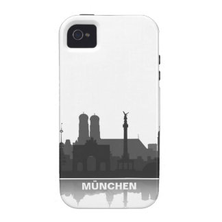 Munich skyline iPhone 4/4s sleeve/Case iPhone 4/4S Cover
