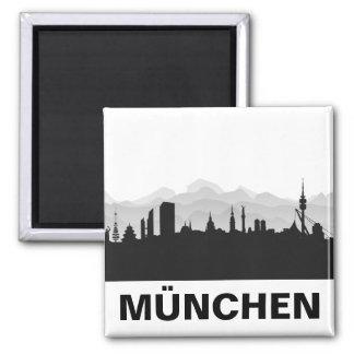 Munich skyline refrigerator magnet