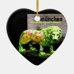 Munich Street Art Lion Germany Souvenir X'mas Gift Ceramic Ornament