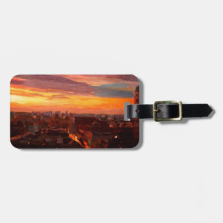 Munich Sunset With Church Of Our Lady Luggage Tag