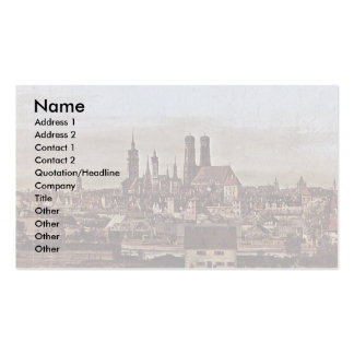 Munich View From The Bridge Gate Times Business Card Template