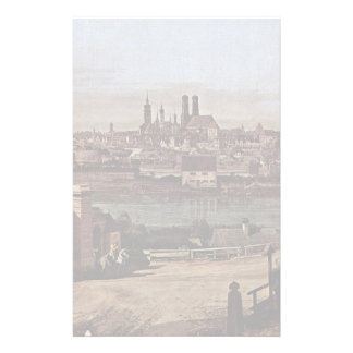 Munich View From The Bridge Gate Times Stationery Design