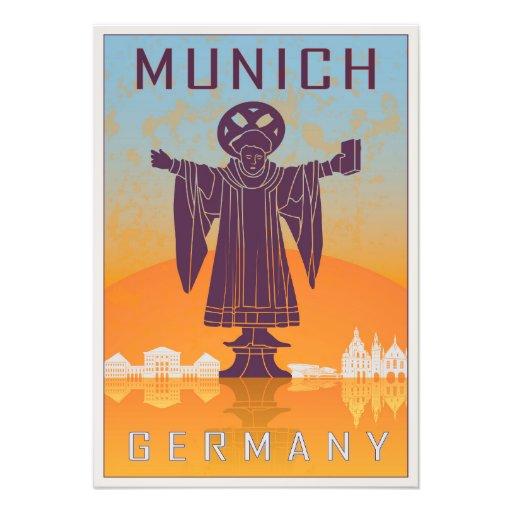 Munich vintage poster fotografía