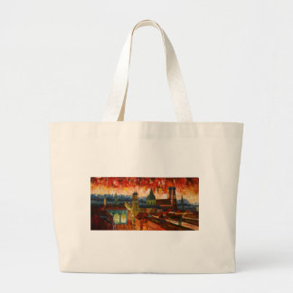 Munich With Alps Panorama Canvas Bags