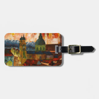 Munich With Alps Panorama Bag Tag