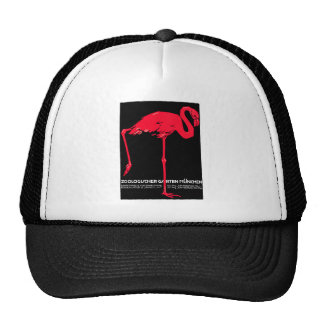 Munich Zoo Garden Flamingo Travel Art Trucker Hat