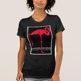 Munich Zoo Garden Flamingo Travel Art T-shirts