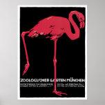 """Munich Zoo"" Vintage Poster"