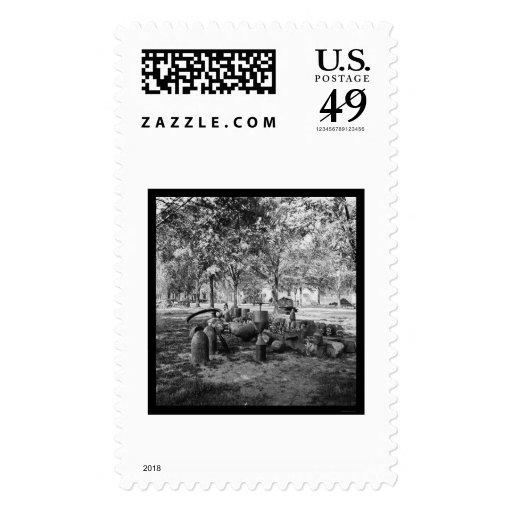 Munición confederada en Charleston 1865 Sellos