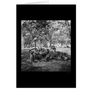 Munición confederada en Charleston 1865 Tarjeta De Felicitación