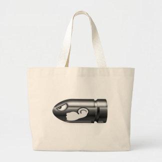 munición enojada bolsa tela grande