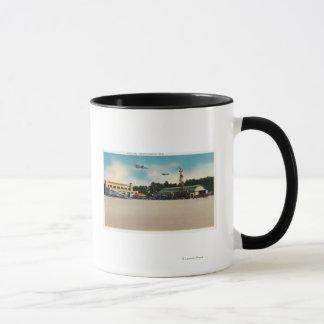 Municipal Airport Landing Field Scene Mug