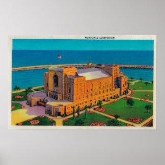 Municipal Auditorium at Long Beach, California Poster