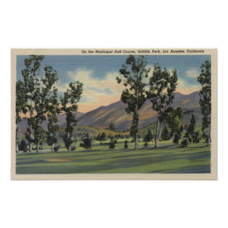 Municipal Golf Course in Griffith Park Poster