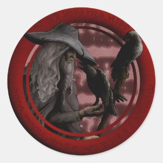 Munin and Hugin Classic Round Sticker