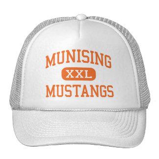 Munising - mustangos - alto - Munising Michigan Gorras