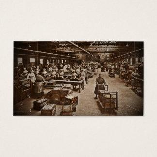Munitions Box Factory Women Business Card
