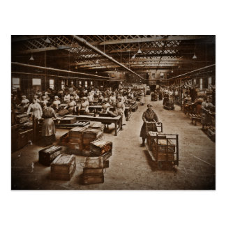 Munitions Box Factory Women Postcard