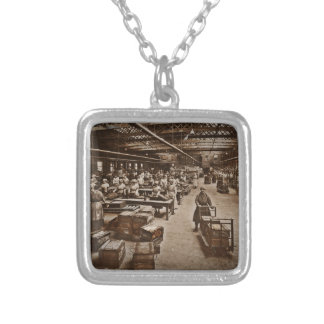 Munitions Box Factory Women Silver Plated Necklace