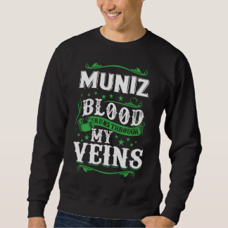 MUNIZ Blood Runs Through My Veius. T-shirt
