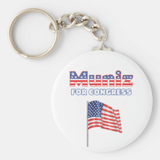 Muniz for Congress Patriotic American Flag Keychain
