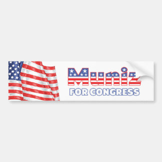 Muniz para la bandera americana patriótica del con pegatina de parachoque